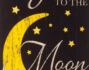 "To The Moon & Back 24"" Fabric Panel - Timeless Treasures"