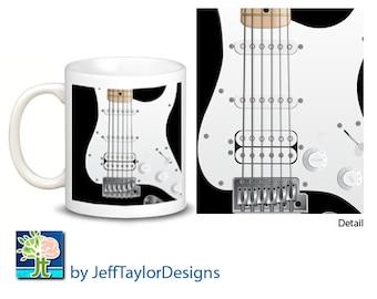 Electric Guitar Coffee Mug 3 Color Choices