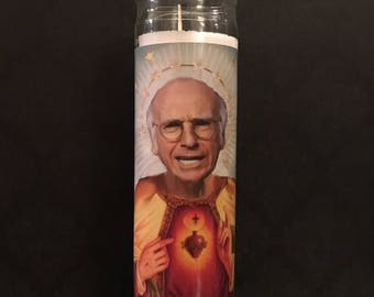 Larry David Curb your enthusiasm Prayer Candle