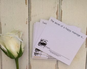 """100 Wedding Wishing Well Cards Guest Book Alternative - 100 Guest Wishes Cards """"RETRO""""  Or PEN & PAPER Pack"""