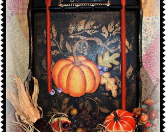 Hexes and Harvest Pumpkin - Painted by Martha Smalley,  Painting With Friends E Pattern