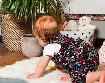 Baby Dungarees Baby Overalls Corduroy Dungarees Floral Dungarees Baby Baby Romper Corduroy Romper Corduroy Romper Floral Romper