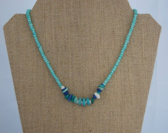 Hat Catch Necklace (r) - Beachy On The Rocks