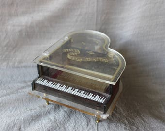 Lucite Musical Grand Piano Cigarette Holder