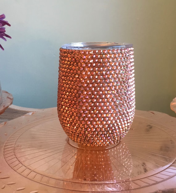 Rhinestone Corksicle Stemless Wine Stainless Container