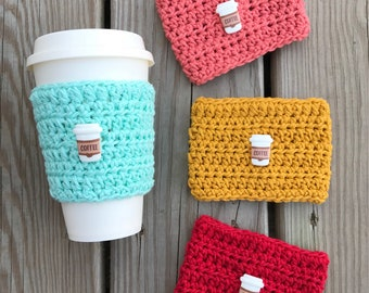 Coffee Lover Cup Cozy//Crochet Cup Sleeve