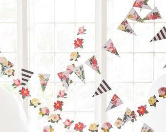 Boho Floral Banner - Boho Floral Garland - Boho Party Garland - Boho Wedding Decorations - Boho Floral - Boho Wedding Decor BTP405