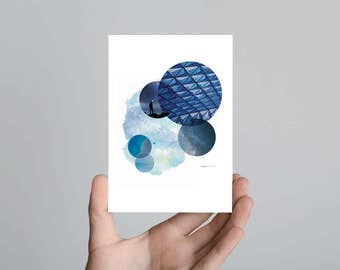 Blue Mood Postcard Print Art