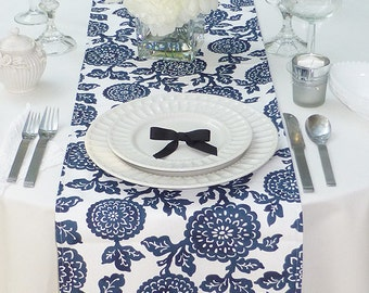 Choose your Table Runner, Navy Blue Table Runner - Navy Blue Wedding Linens - Navy Blue Table Topper - Mums Navy Blue Table Runner