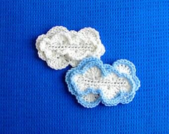 Cloud Applique Crochet Pattern - Cloud Crochet Pattern - Applique Crochet Pattern - Applique Cloud Crochet Pattern - Instant Download PDF
