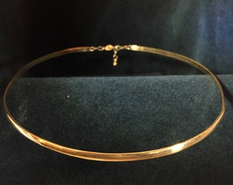 Simple Half Round Brass or Silver Band Circlet Headpiece
