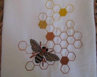 Sweet as Honey Bee - Kitchen Flour Sack Towel - Gourmet - Natural Cotton