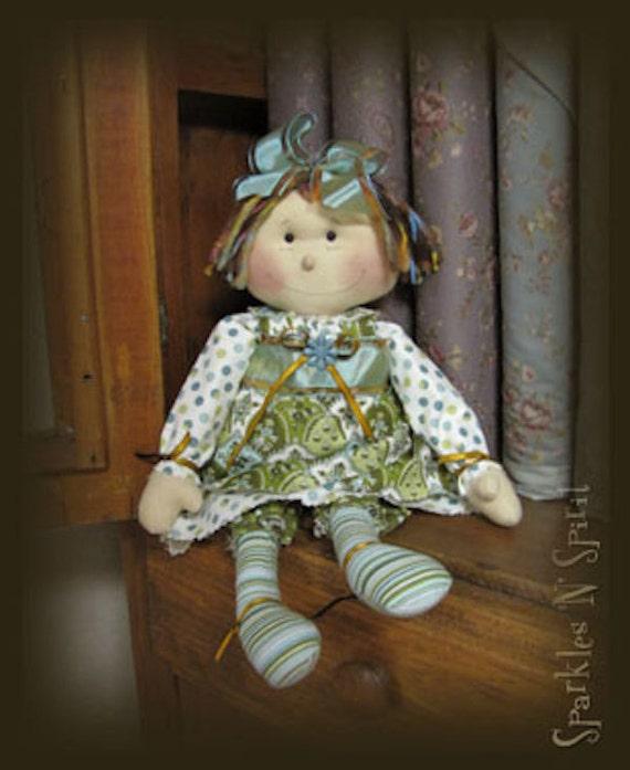 """Pattern: Peggy - 16"""" Retro Raggedy Doll"""