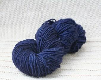 Hand dyed yarn: Indigo BFL wool worsted weight yarn