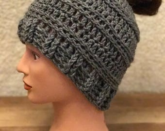 Messy Bun Beanie - Any Color Available