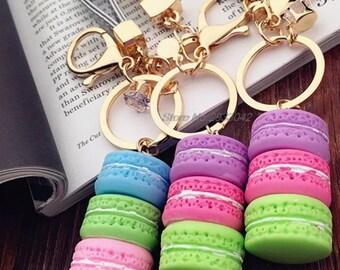 Keychain Macaron Keychain Bakery Charm
