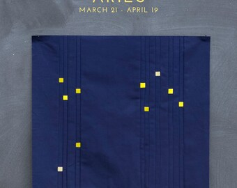 Aries Constellation Block PDF pattern - Quilting Patchwork