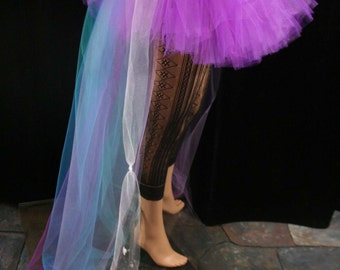 Peacock bustle dark purple tutu skirt extra poofy Adult halloween costume dance gothic prom bridal  -- You Choose Size - Sisters Of the Moon