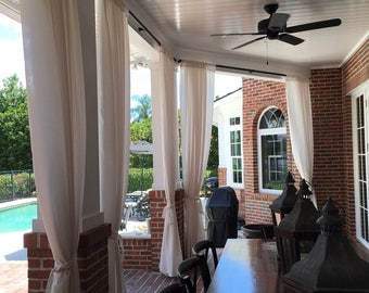 Outdoor and indoor draperies and curtains