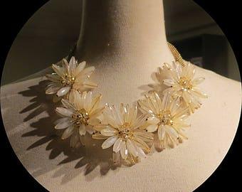 Flower Cluster  Vintage Necklace # 041