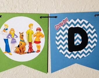 Scooby Doo Birthday banner, Scooby Doo Party, Scooby Doo Theme, Shaggy, Velma, Daphne, Freddy, Scrappy Doo, Scooby Doo Decorations
