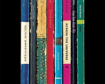 David Bowie 'Young Americans' Album As Penguin Books Poster Print 1975 Literary Music Art Print