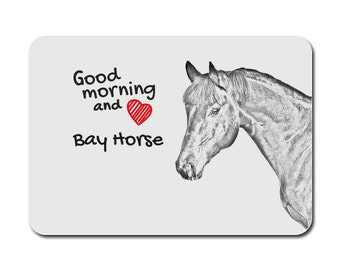 Bay, A mouse pad with the image of a horse. Collection!