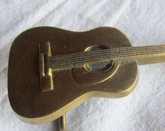 Guitar Buckle Solid Brass BBB Baron Buckle 1978 Guitar Belt Buckle Brass Belt Buckle  Ornate western musician buckle
