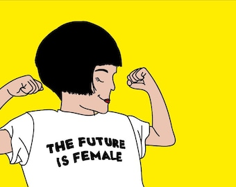 Feminist illustration A4 Print // The T Collection - Emma