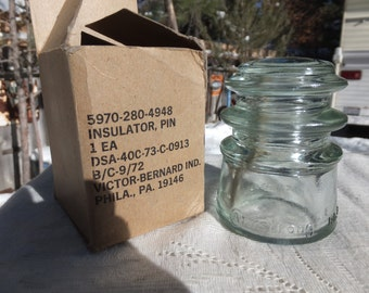 Clear Armstrong Insulator in Original Box - Never Used