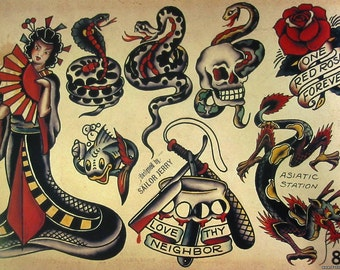 Sailor Jerry Temporary Tattoo Set
