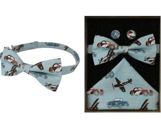Vintage Transport Bow Tie & Boxed Gift Set