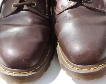 Vintage Men's Brown Dr. Martens Doc Martens Vintage Doc Marten Shoes Dark Brown