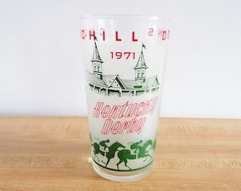 Kentucky Derby 1971 Glass Horse Racing Churchill Downs Mint Julep