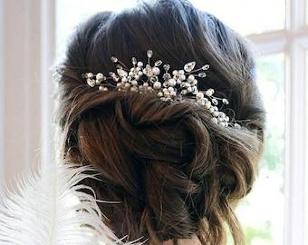 Bridal hair comb, Pearl Bridal headpiece, Bridal hair piece, Wedding hair piece, Wedding headpiece, Wedding hair comb