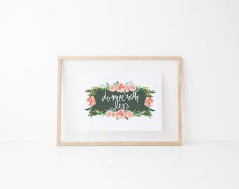 do more with less calligraphy print