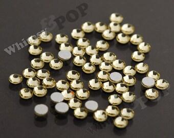 SS16 - 1 GROSS (144 pieces) Jonquil Yellow Glass Rhinestones, SS16 No Hot Fix Flatbacks, 4mm, High Quality Glass Rhinestones R4-110