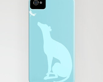 Greyhound Dog And the Dragon Fly On Phone case - greyhound, silhouette,Samsung Galaxy iPhone 6S, iPhone 6 Plus, iPhone 8