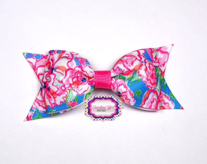 """Lucky Charm Bow  ~ 3.5"""" Hairbow ~ Lilly Inspired ~ Small Hair Bow ~ Girls Barrette ~ Toddler Bow ~ Hair Clip ~ Girls Hair Bow"""