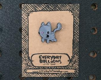 kitty pin, cat pin, cat enamel pin, cat lapel pin, kitty enamel pin, kitty lapel pin, stocking stuffer, cat lover