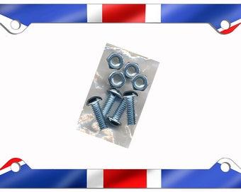 British Union Jack Flag License Plate Frame Gifts Girls Ladies Men Plate Holder Flags Briton England English Flag