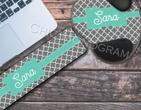 Personalized Keyboard Wrist Rest & Mouse Pad with Wrist Rest Memory Foam Wrist Wrest Mouse Pad Keyboard Wrist Pad Wrist Rest for Keyboard
