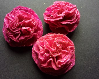 A set of 10 Crepe Flowers