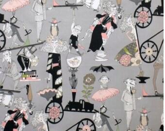 A Ghastlie End Alexander Henry Fabric Grey / Smoke Background 100% Cotton Fabric