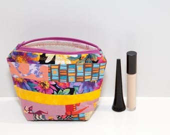 Make up pouch, make up bag, zippered pouch