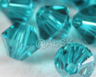 Swarovski Crystal Beads BICONE 5328 5301 BLUE ZIRCON - Available in 3mm, 4mm, 5mm and 8mm