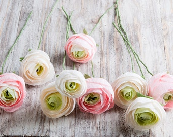 Paper ranunculus, bridal flower, bridal bouquet, bridesmaids bouquet, wedding bouquet, paper flower bouquet, wedding flowers, paper flowers
