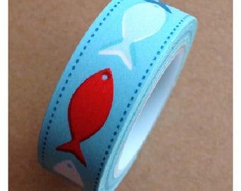 Washi tape (washi) - fish
