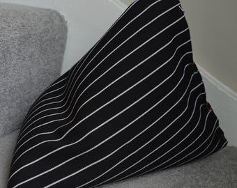 iPad Mini Beanie / Kindle Stand / e Reader Pillow / Tablet Cushion - Black Pinstripe