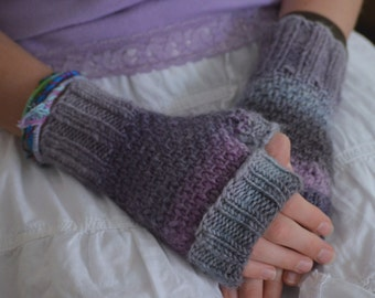 TOASTIES Knitting Pattern  - Adults Kids - Fingerless Mitts, Handwarmers PDF File